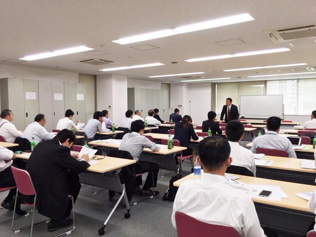 大手損保メーカー主催 保険代理店向け 助成金セミナーin広島の様子