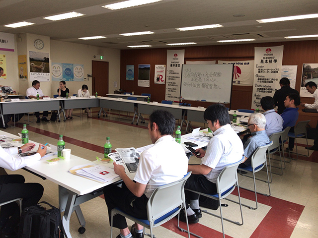 ロータスクラブ秋田県支部にて、助成金セミナー講師